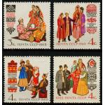 Костюмы народов СССР. Таджики, Туркмены, Киргизы, Азербайджанцы.